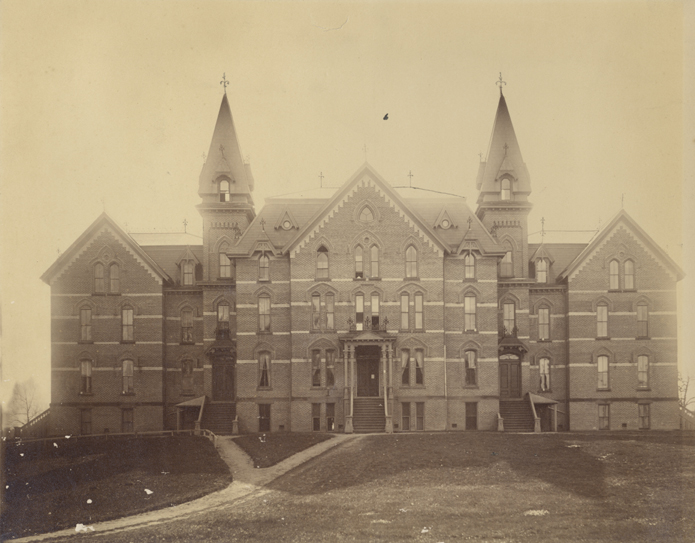 A picture of the first Wells Hall