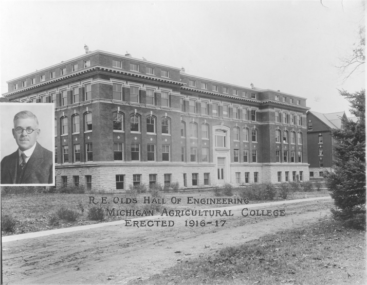 Olds Hall with R.E. Olds