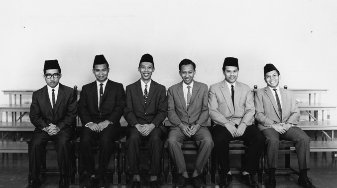 Indonesian Students Club Group Photograph, 1961