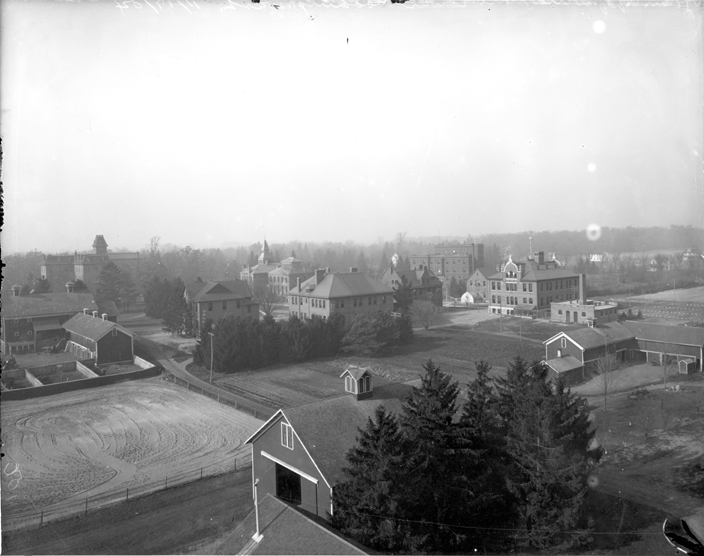 Aerial view of campus, 1906