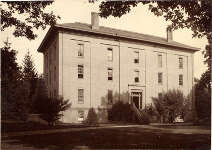 Front view of College Hall in 1888 by Carpenter '79