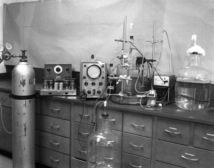 Equipment used by Barnett Rosenberg, 1965