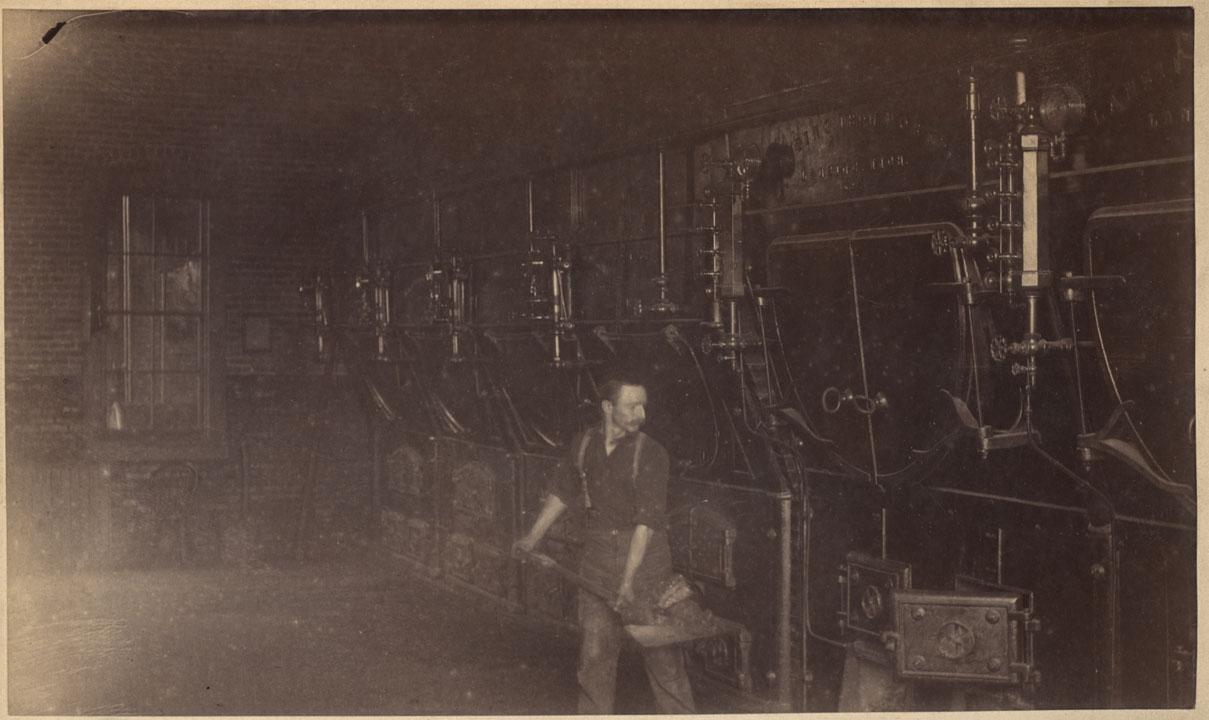 (B)Hand fed coal boilers, 1890
