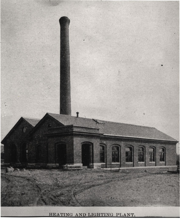 (E) New heating and lighting plant 1904