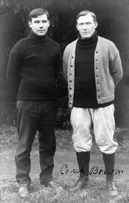 Coach Brewer, M.A.C. football, circa 1900-1909
