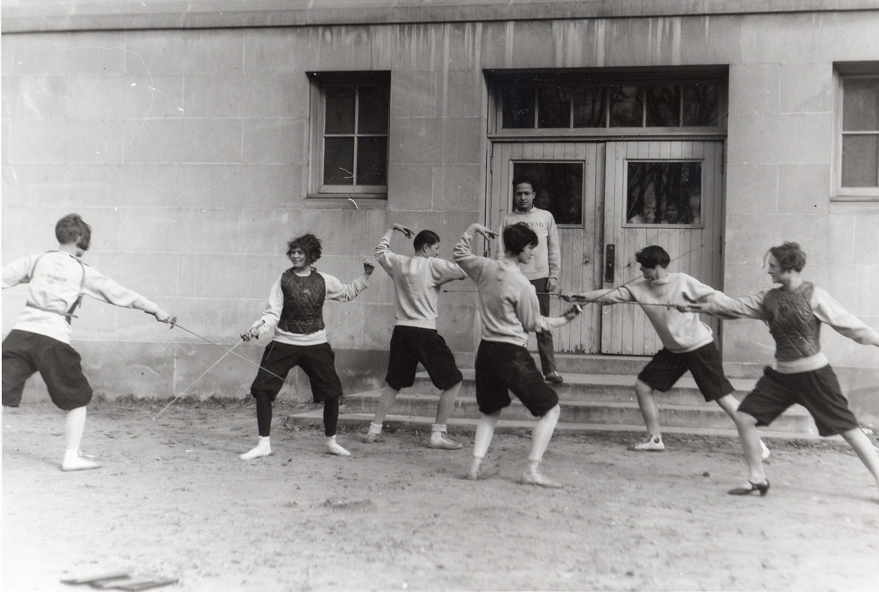 Women's Fencing Practice, circa 1926