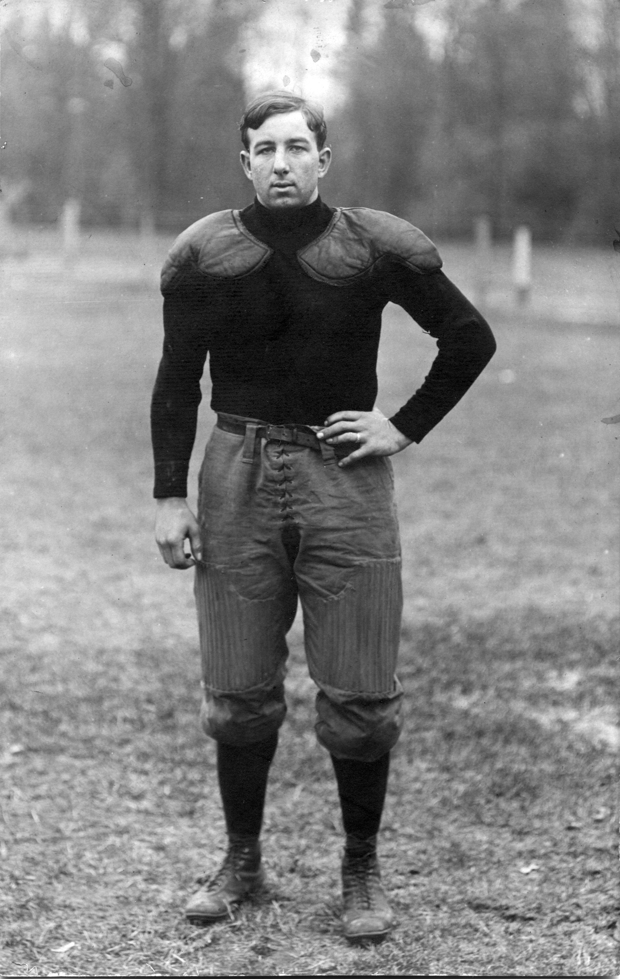 Exelby, M.A.C. football player, circa 1900-1909