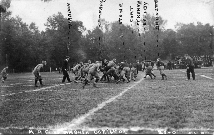 M.A.C-Wabash football game, 1909