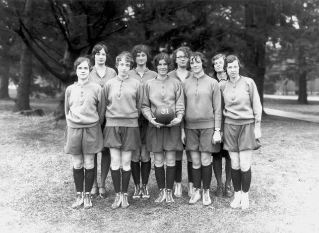 Ladies soccer team, 1931