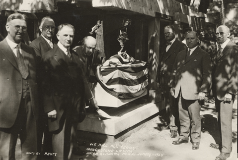 Laying the cornerstone of the Union Building, 1924