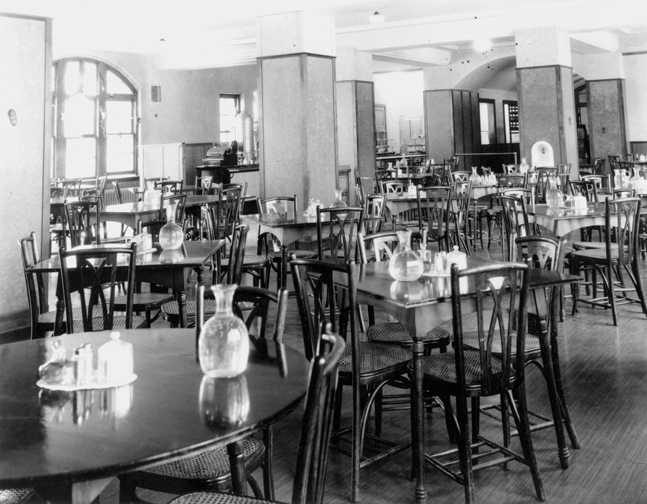 A dining hall inside the Union Building, 1935