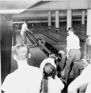 Bowling at the Union Building, 1950