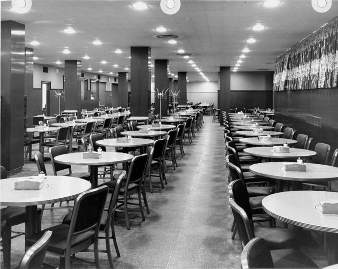 A dining area inside the Union, date unknown