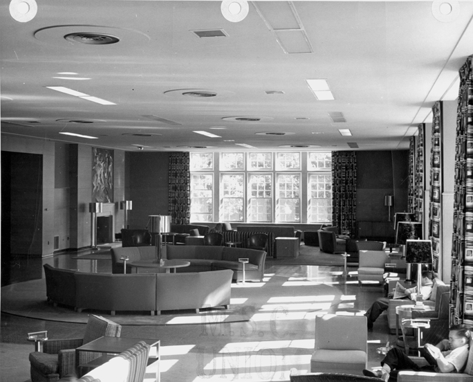 Main lounge of the Union Building, date unknown