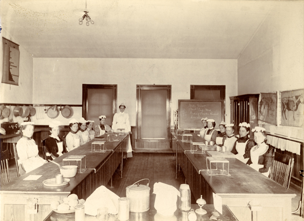 Cooking class, 1898