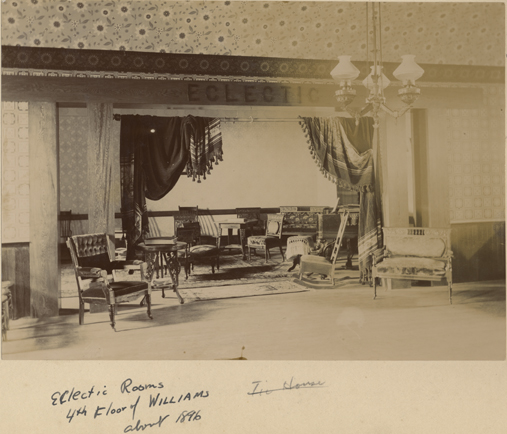 Williams Hall sitting room, 1896