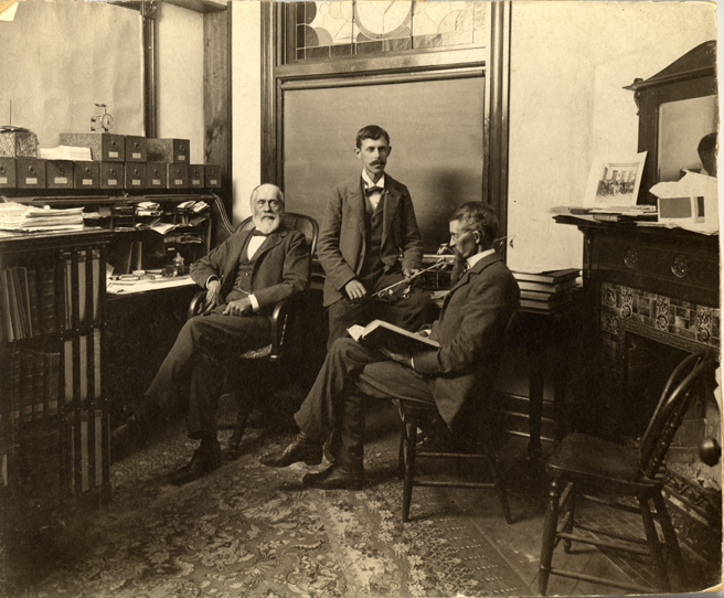 Dr. Beal and students, date unknown