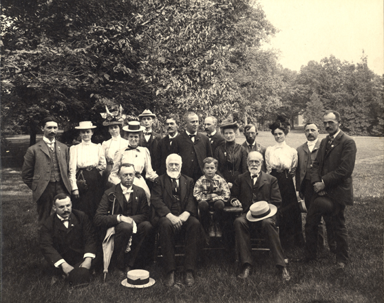 Faculty and students, 1885