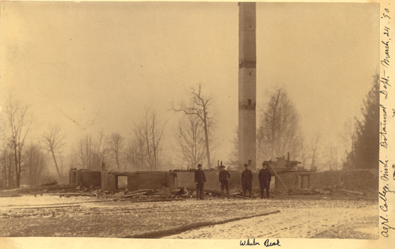 Botanical Laboratory after the fire, 1890