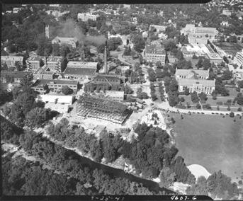 Aerial image of campus, 1941