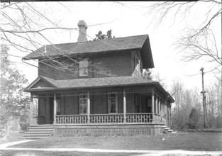 House on faculty row, date unknown