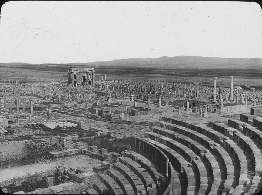 Timgad Roman ruins in Algeria, undated
