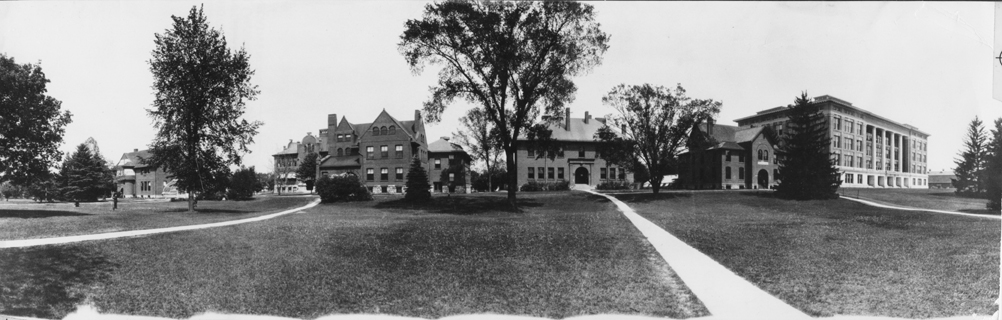 Campus buildings panorama, date unknown