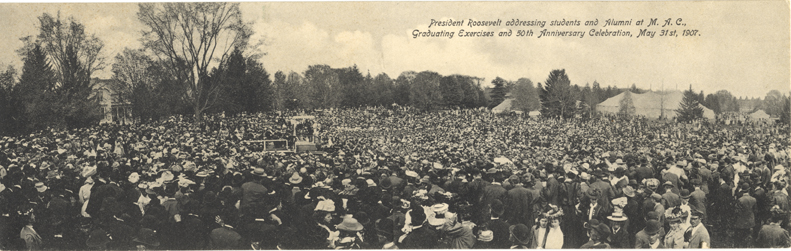 Panorama of Roosevelt's address, 1907