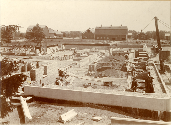 Construction of Agriculture Hall, 1908