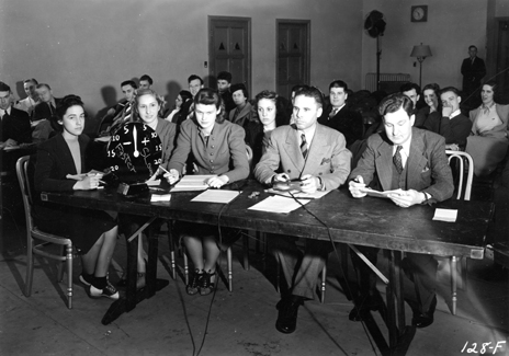 Class in the Communication Arts College, date unknown