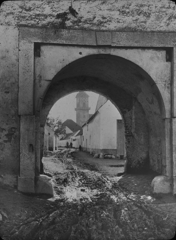 Austrian archway in town, undated