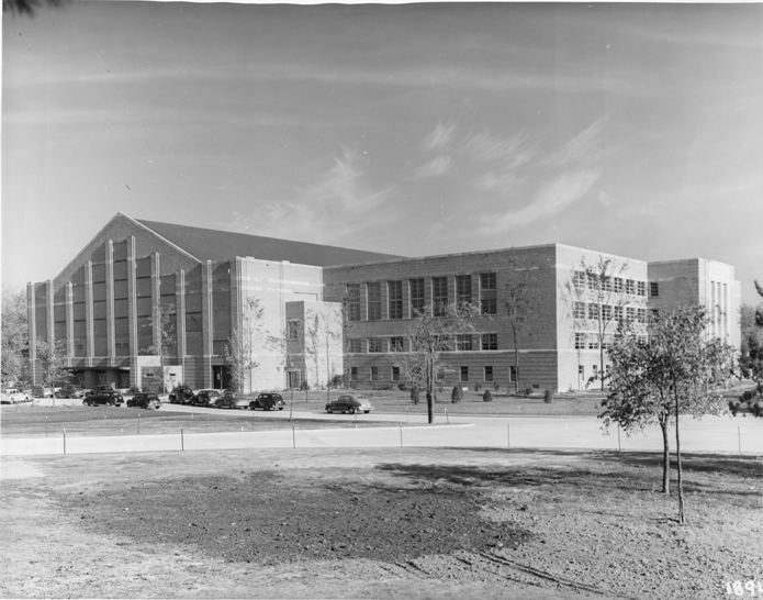 A view of Jenison Fieldhouse, date unknown