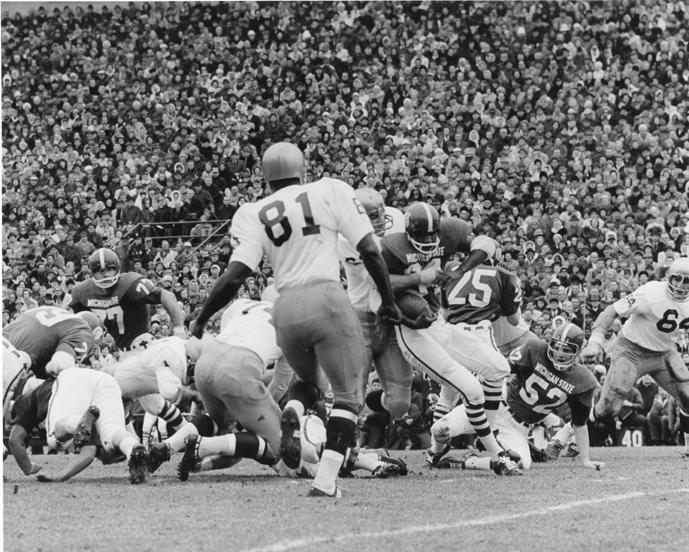 Thousands watching an MSU vs. Notre Dame football game, 1966