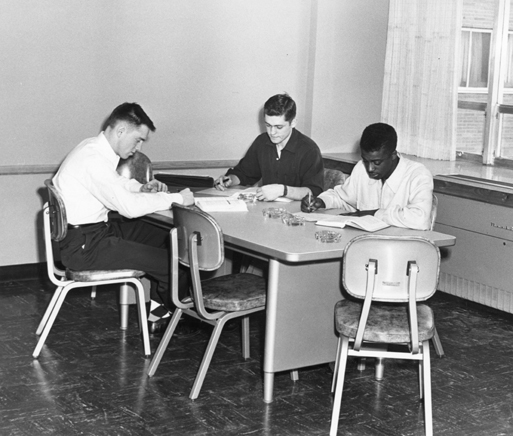 Students studying, 1954