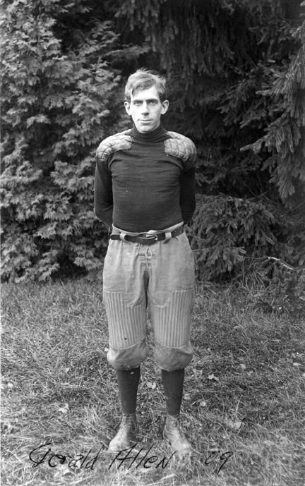 Gerald Allen, M.A.C. football player, 1909