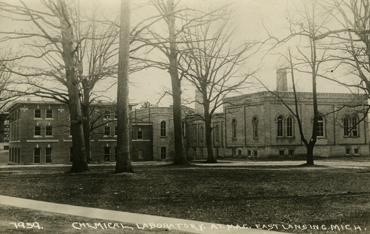 Behind the Physics and Electrical Engineering Building, undated