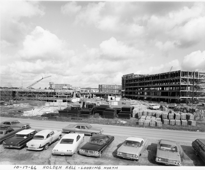 Construction on Holden Hall, 1966