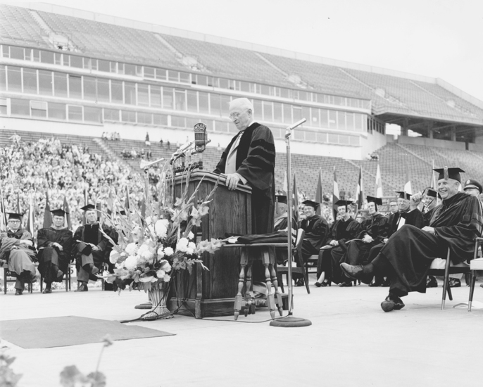Harry S. Truman at Commencement address, 1960