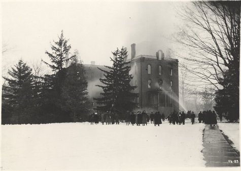 Firefighters at Williams Hall, 1919