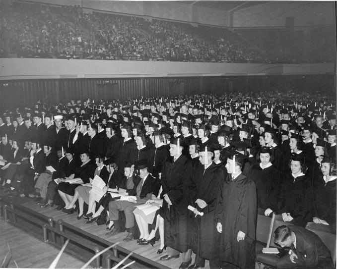 Commencement ceremony, circa 1940
