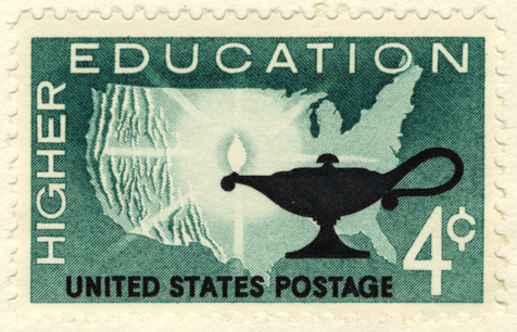 Higher education postage stamp, 1955