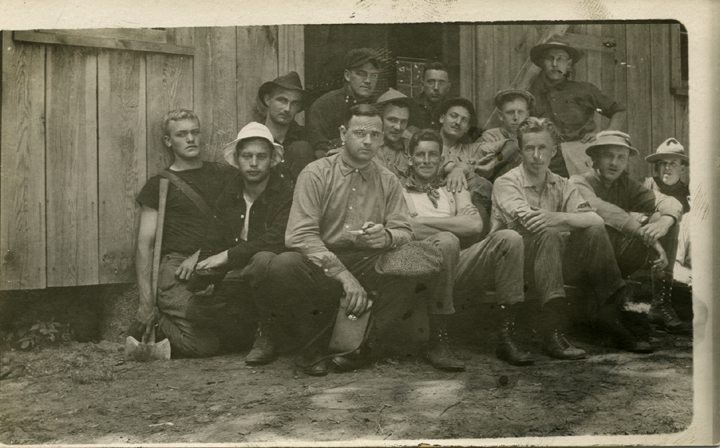 Forestry students at camp, 1914