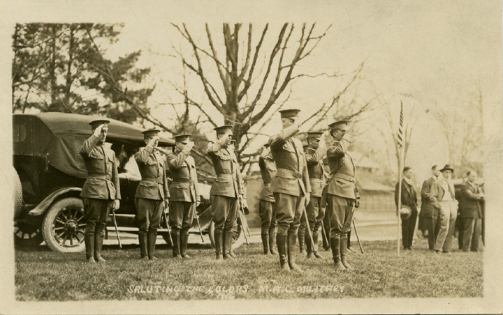 Cadets in formation, 1916