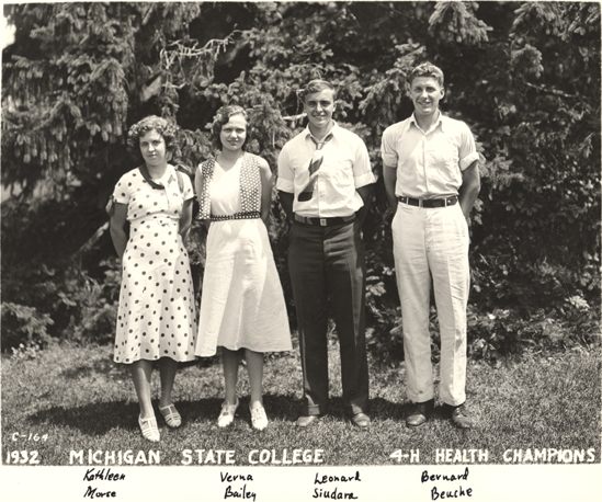 4-H Health Champions, 1932