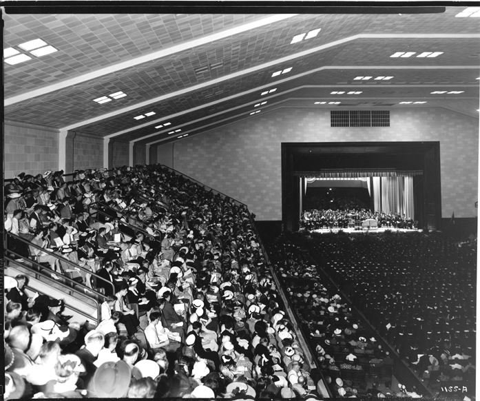 Commencement at the Auditorium, date unknown