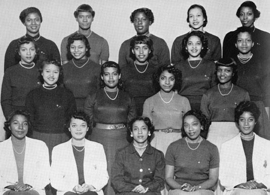 Alpha Kappa Alpha sorority members, 1955