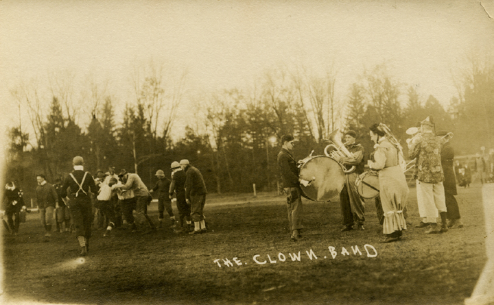 Band members in costumes, 1920