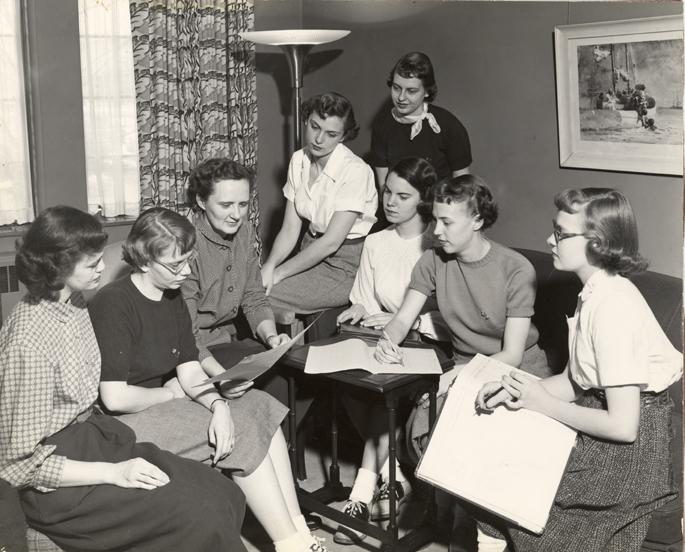 Home Management class, ca. 1950