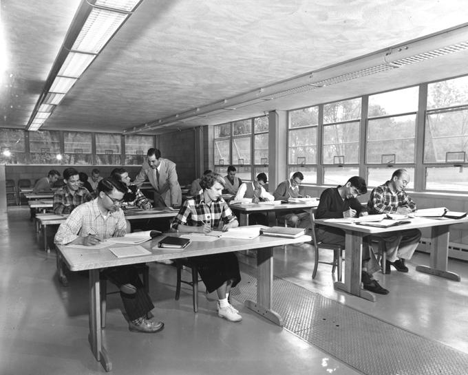 Class at the Kellogg Center, 1953