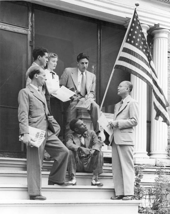 Students celebrate United Nations week, 1947